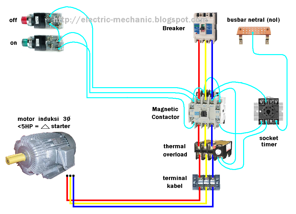 wiring+DOL+starter+motor+off+with+timer Ab Overload Relay Wiring Diagram on