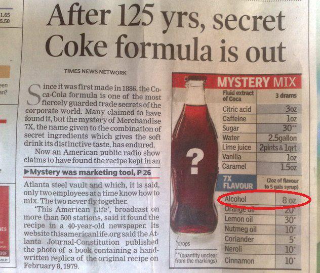 125 Years of Coca-Cola Secret Formula Revealed
