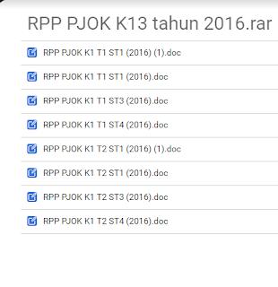 Kumpulan RPP PJOK K13 Tahun 2017