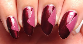 Pink Triangle Nails
