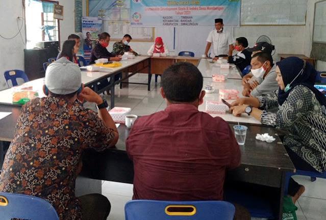 Personel Jajaran Kodim 0207/Simalungun Turut Hadiri Rapat Pembekalan Tim Pokja Pendataan SDGs dan IDM