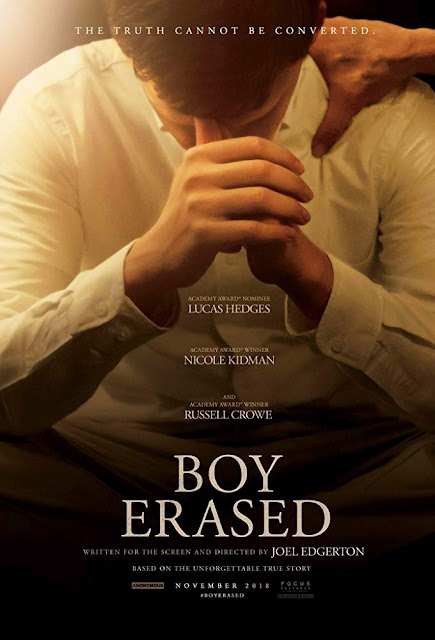 Boy Erased 2018 movie poster Joel Edgerton Lucas Hedges Nicole Kidman