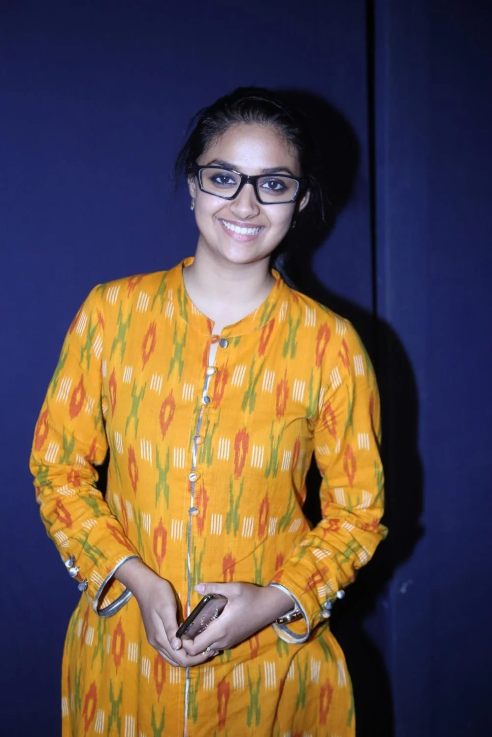 548e5cdc853 Keerthy Suresh in Yellow Dress with Cute and Lovely Smile