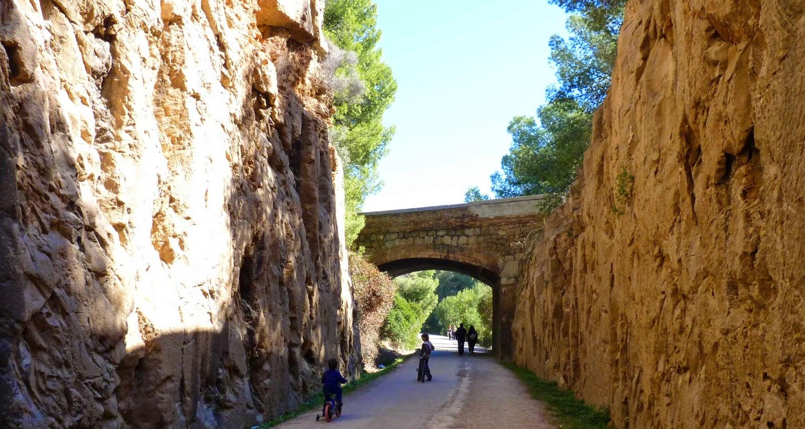 La Vía Verde entre Benicàssim y Oropesa.