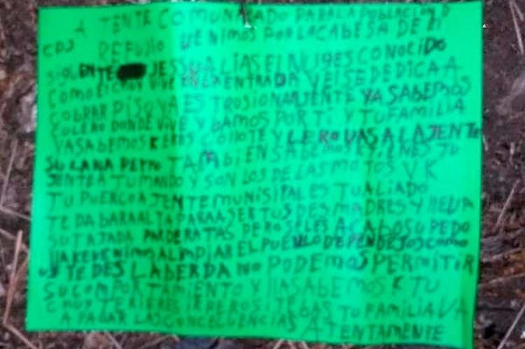 """""""Recomendamos no salir de sus casas"""", Sicarios del CJNG dejan narcomensaje amenazando a lacras en Veracruz, """"Tienen que pagar cuota"""""""