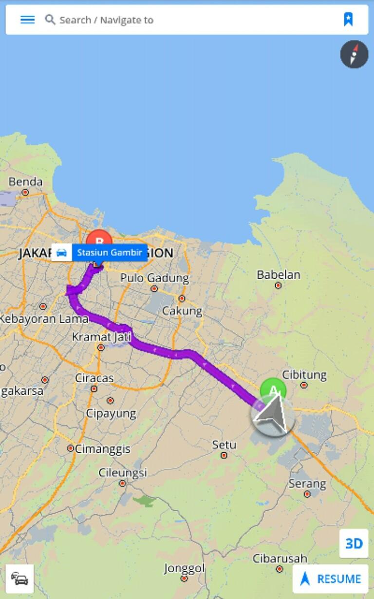 Peta Rute Dari Bekasi ke Stasiun Gambir Jakarta Peta Jalan Ke Jakarta
