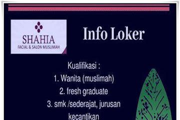 Lowongan Kerja Karyawati untuk Salon Muslimah Shahia Gallery