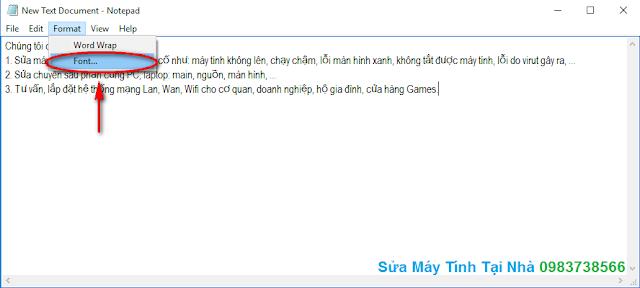 Cách lưu file Notepad bằng tiếng Việt - H05