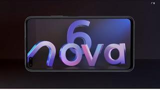 Huawei nova 6 5G: Bocoran terbaru mengenai spesifikasi nya!