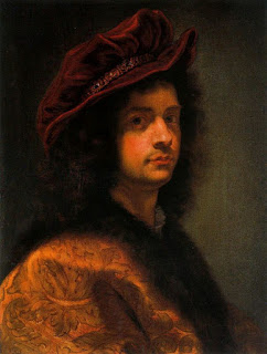 Baroque painter Giovanni Battista Gaulli, a self-portrait  painted in about 1667