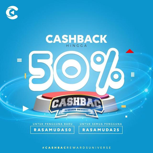 #Steak21 - #Promo Voucher Cashback 50% Pakai Aplikasi Cashbac (s.d 24 Sept 2019)