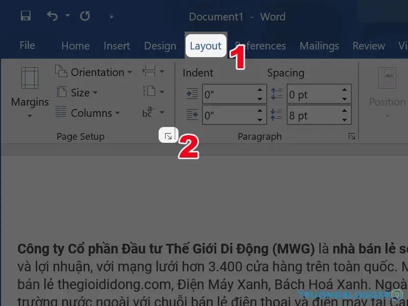 Cách căn lề chuẩn từng khổ giấy trong Word