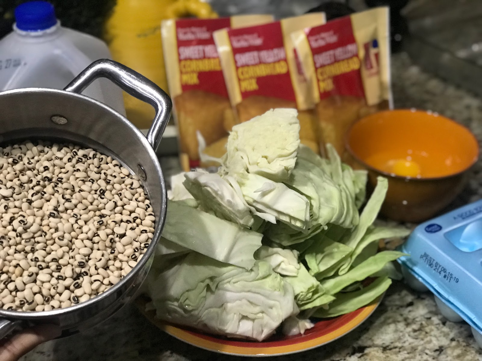 Image: Tangie Bell is prepping black eye peas and cabbage for dinner :Babbling Diaries: What's Happening Labor Day Amongst Other Soulful Things