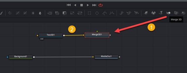 aggiunta del nodo merge3d