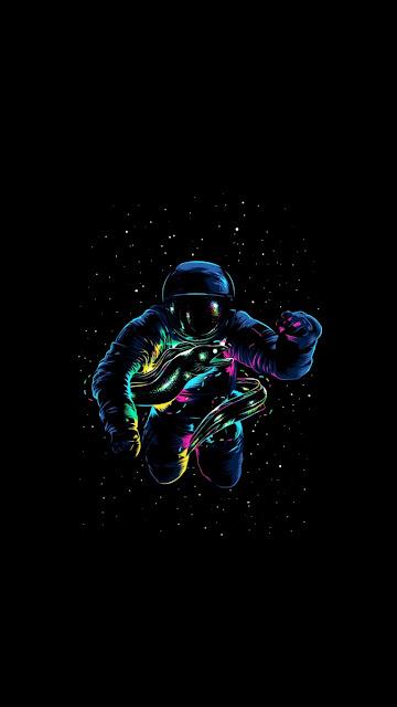 Dark wallpaper for astronaut mobiles