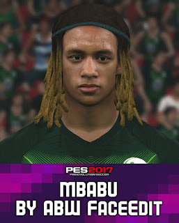 PES 2017 Faces Kevin Mbabu by ABW_FaceEdit