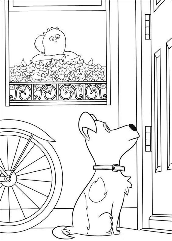 Dogs coloring pages 39