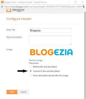 Mengubah Header Blog dengan Gambar