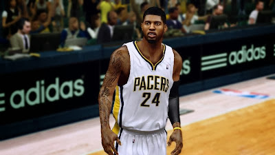 Paul George Realistic HD Face Texture 2K Mods