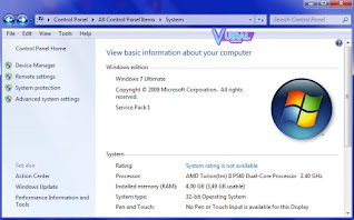 Mengecek Spesifikasi Laptop/Komputer Melalui Control Panel