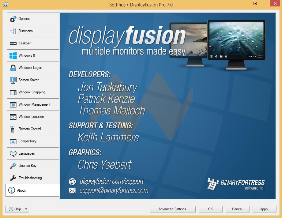 DisplayFusion Pro 7.0