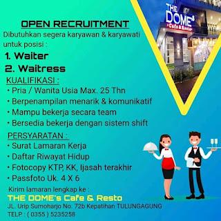 Lowongan Kerja Terbaru di The Dome's Cafe & Resto November 2020