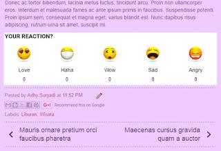 emotion feedback widget blogger reações