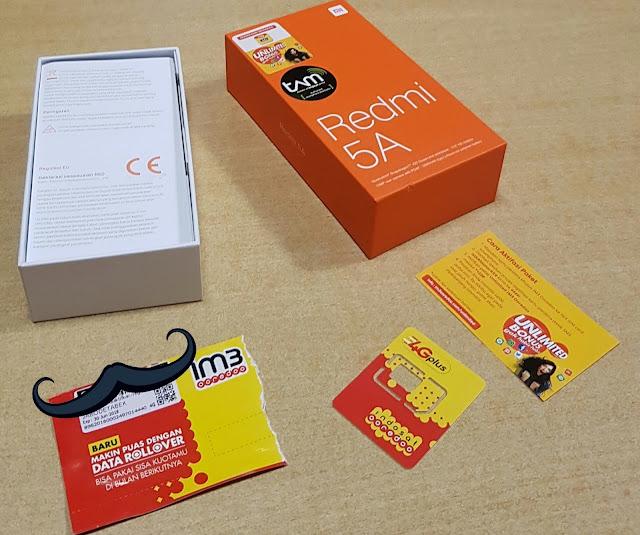 Unboxing Xiaomi Redmi 5A Bundling Indosat