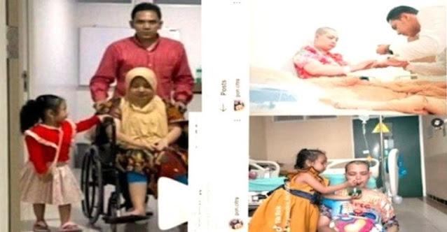 SUAMI SETIA DAN KUAT, Rawat Istri yang Sakit Hampir 4 Tahun dan Mengurus Anak Semata Wayangnya
