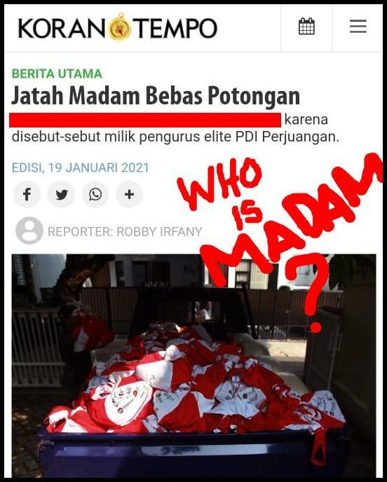 "Korupsi Bansos, Setelah ""Anak Pak Lurah"", Kini Muncul Istilah ""Madam"", SIAPA DIA?"
