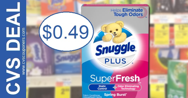 Snuggle Dryer Sheets CVS Deal 2-7-2-13