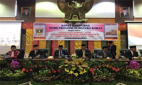 Desrio Putra Jadi Pimpinan Sementara DPRD Sumbar Ucapakan  Terima Kasih