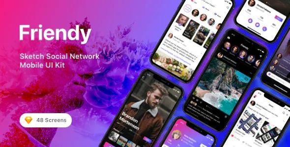 Best Social Network Mobile UI Kit