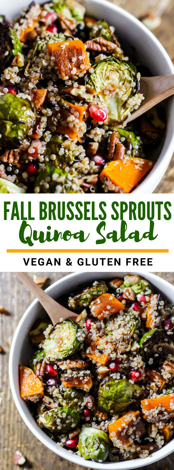 Fall Brussels Sprouts Quinoa Salad #vegetarian #thanksgiving
