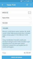 Tampilan Aplikasi Halaman Isi Token PLN