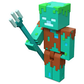 Minecraft Drowned Craft-a-Block Series 2 Figure