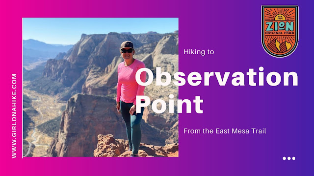 Hiking to Observation Point via East Mesa Trail, Zion National Park