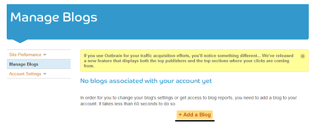 outbrain add a blog