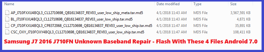 How to Repair Unknown Baseband - Samsung J7 2016 J710FN - Free