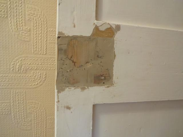 sanding door