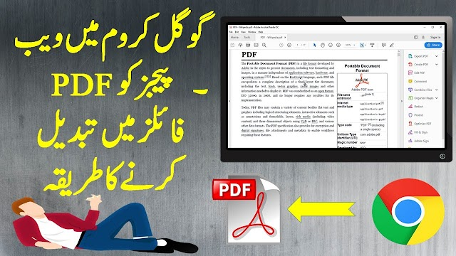 HOW TO SAVE / CONVERT A WEB PAGE TO PDF IN CHROME WEB BROWSER
