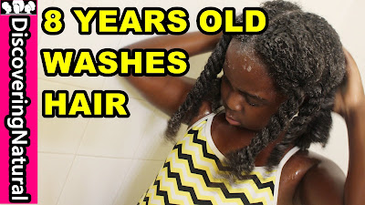 Teaching Your Kids HOW TO WASH NATURAL HAIR | Inahsi Naturals | DiscoveringNatural