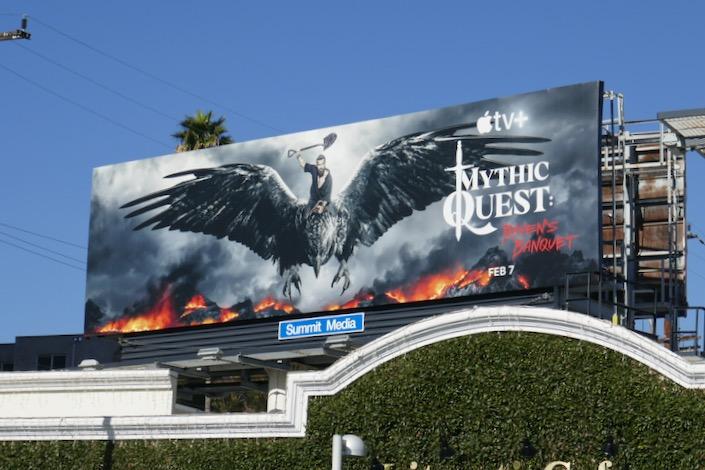 Mythic Quest Ravens Banquet series billboard