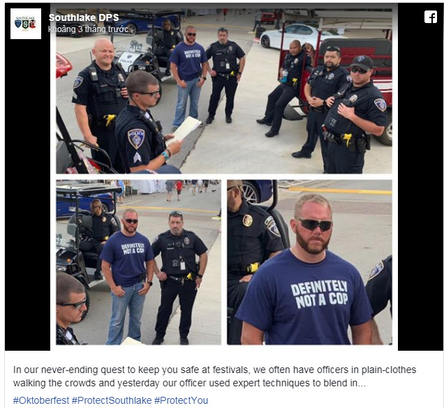 North Texas officers try to blend in with 'definitely not a cop' shirt