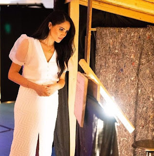 Duchess of Sussex visit her patronage the National Theatre in London a private visit in March 2020