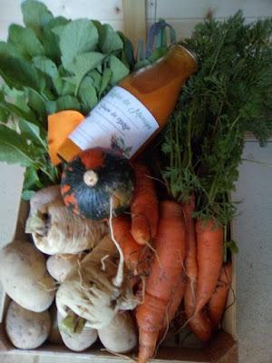 Le Jardin de Monique propose des panier de légumes