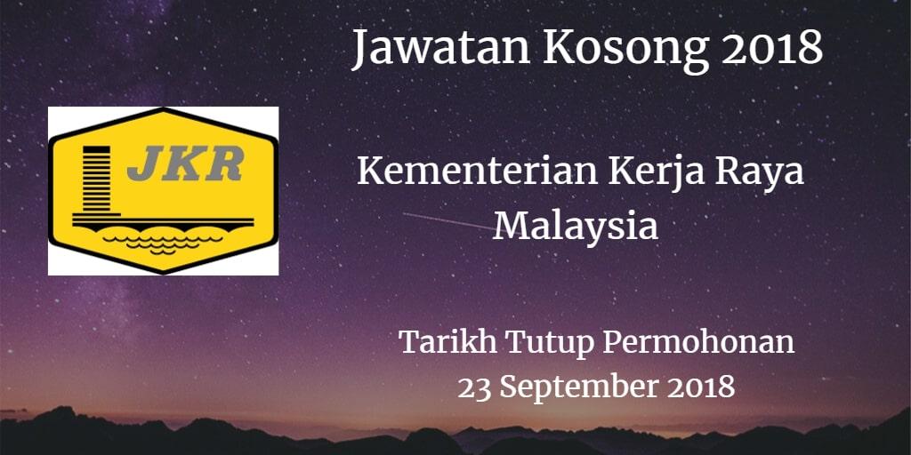Jawatan Kosong KKR 23 September 2018