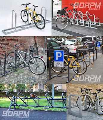 Esempi di funzionanti rastrelliere per biciclette che proteggono dai furti