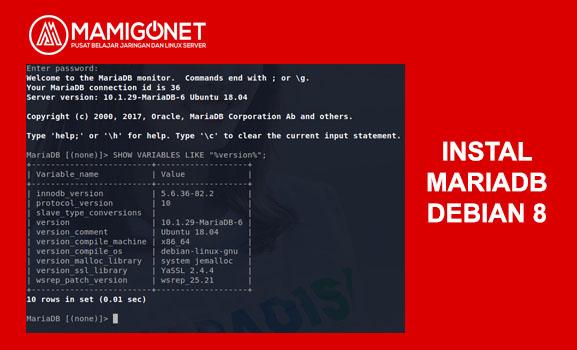 Cara Instal MariaDB di Debian 8 Server