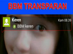 BBM Transparan Terbaru 2016 APK
